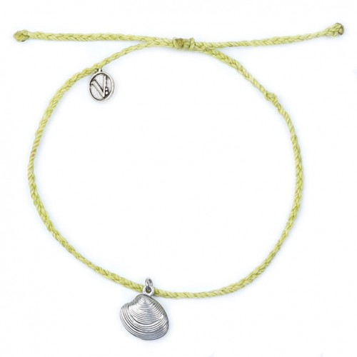 Conch Green Braided Anklet
